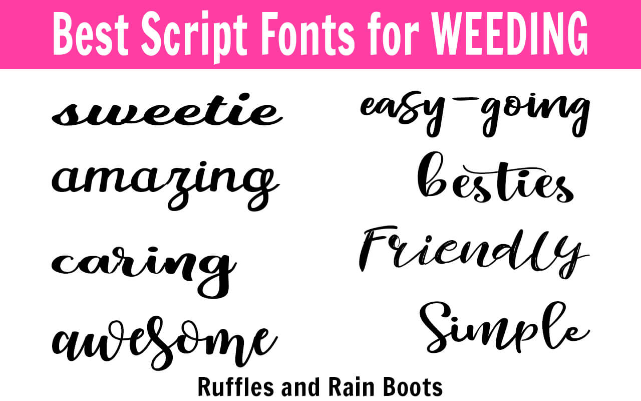Calligraphy Fonts List The Best Fonts For Weeding Cricut And Other Cutting Machines