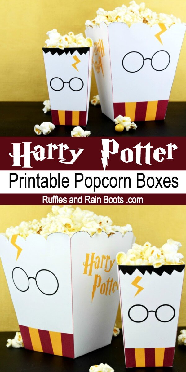 Free Harry Potter Popcorn Box Printables - Two Sizes! - Ruffles and