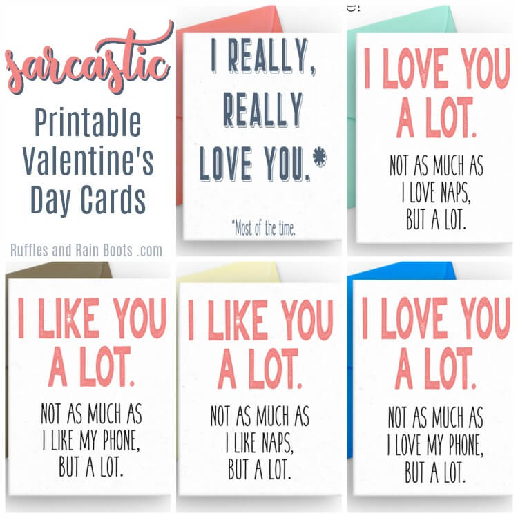 Free Sarcastic Printable Valentines - Cards for Adults - Ruffles and