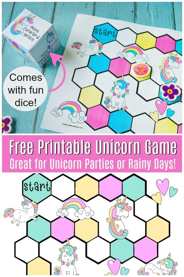 Free Printable Unicorn Party Game - Ruffles and Rain Boots