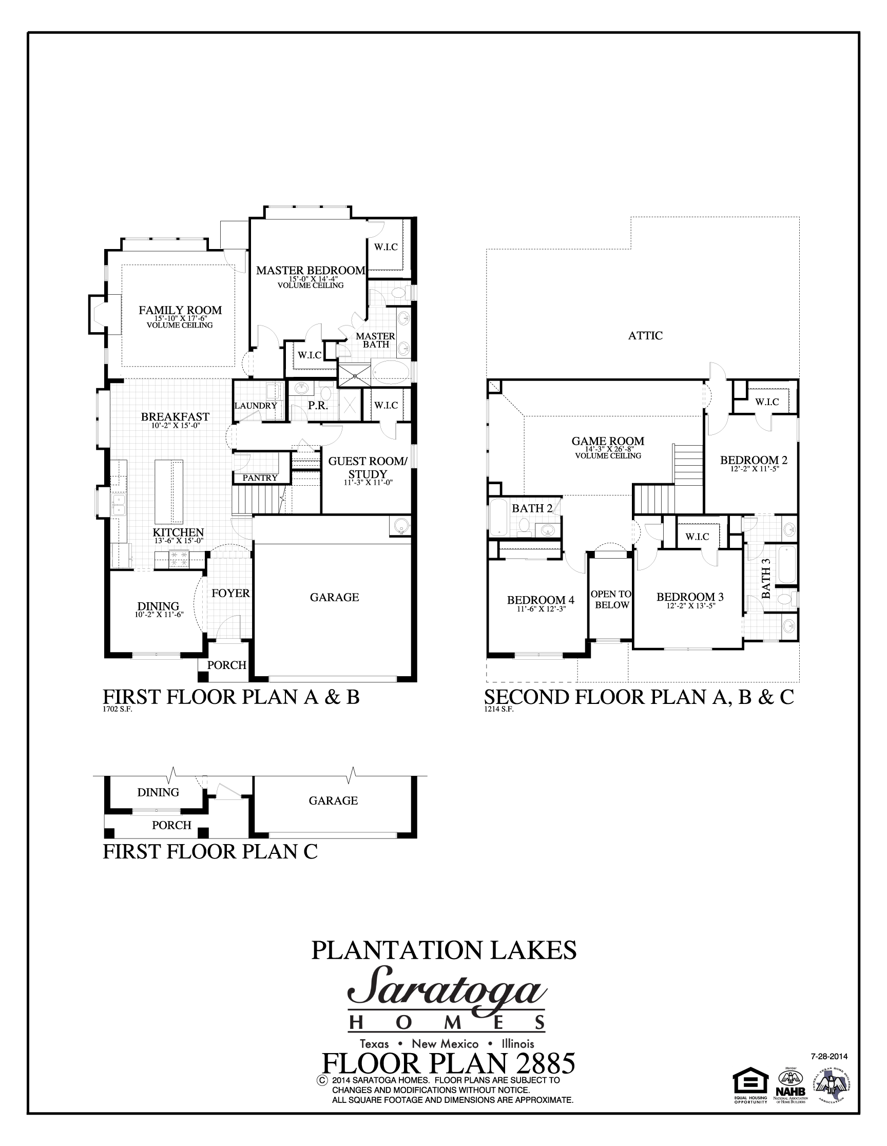 Us Homes Floor Plans Plan 2885 Saratoga Homes Houston