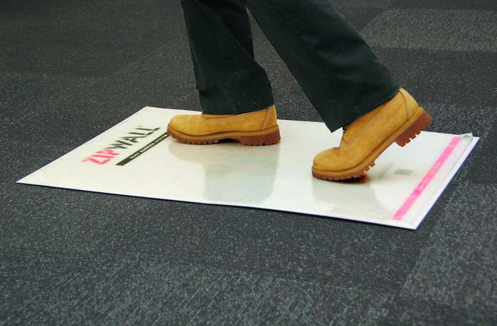 Tacky mat prevents tracking of dust For Residential Pros