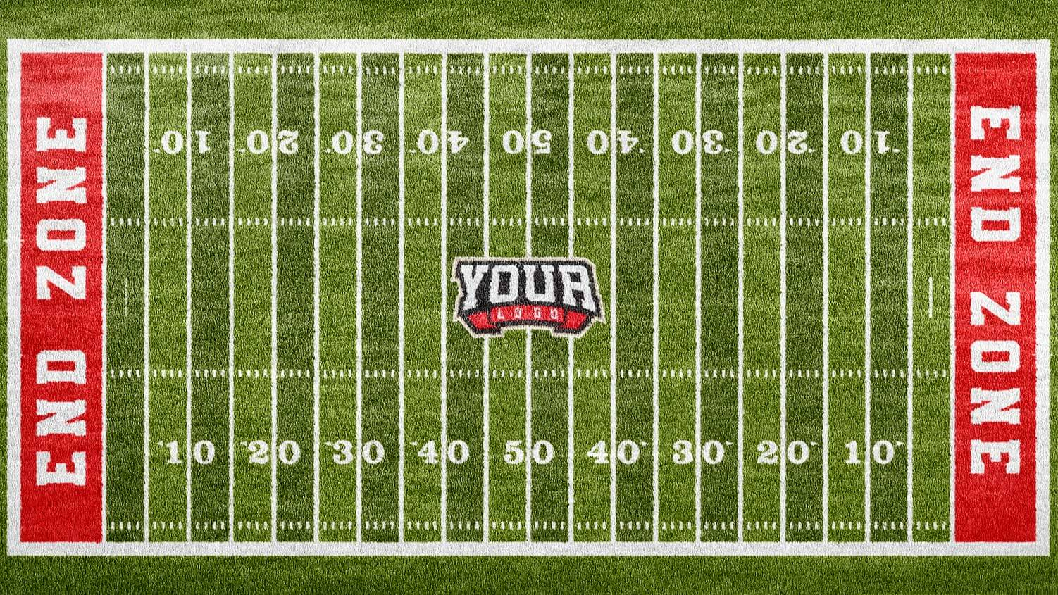 Football Field Photoshop Logo Mockup Sports Templates