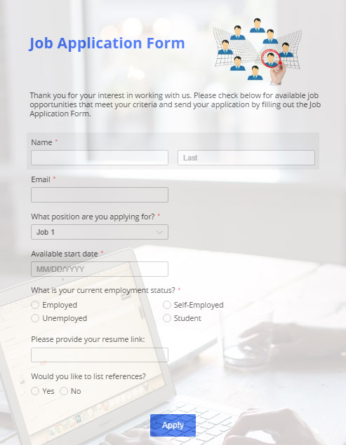 The Online Job Application Form Ingredients for Excellent Results