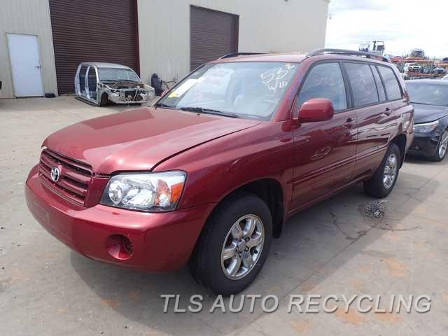 Parting Out 2004 Toyota Highlander - Stock - 6109GR - TLS Auto Recycling