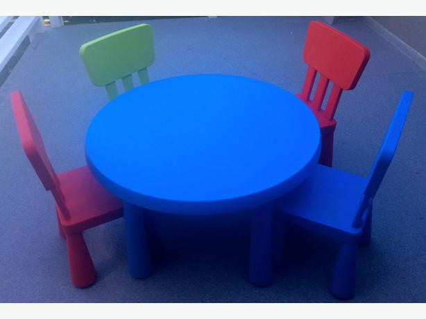 Ikea Kids Table Set Fold Away Dining Table And Chairs