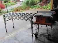 extension roller table for a table saw Saanich, Victoria
