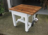 VINTAGE 1950 KITCHEN PREP TABLE / BUTCHER BLOCK TABLE ...