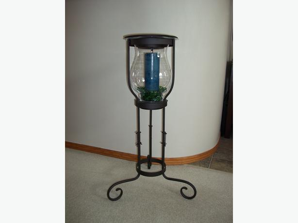 Partylite Large Hurricane Candle Floor Stand Fort Garry