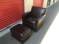 high end leather chair and ottoman Esquimalt & View Royal ...