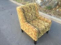 high end chair used for staging a condo Esquimalt & View ...