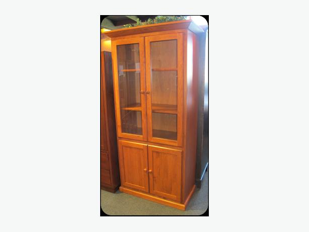 New Solid Alder Deep Bookcase With Doors 25 Off Made In