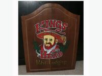 Vintage 'King's Head Pub-Lodging' Wood Cabinet and DART ...