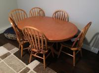 Oak kitchen table and 6 chairs Surrey (incl. White Rock ...