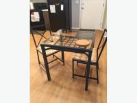 IKEA Glass Top Kitchen Table and Two Chairs East Regina ...