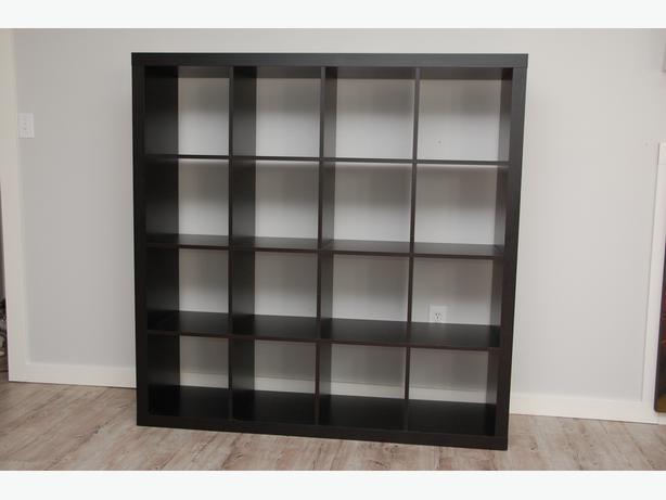 Ikea Expedit Shelving Unit Black Brown 4x4 Jeah Saanich
