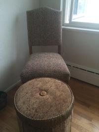 Shabby Chic Cabinet, TowelRack Chair And Matching Ottoman ...