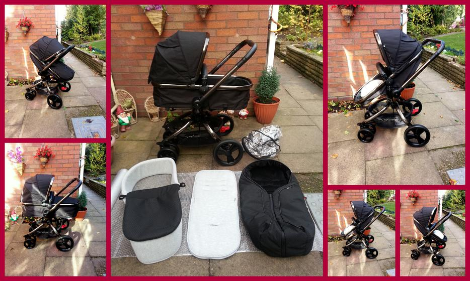 Pram Come Pushchair Mothercare Orb Pram Carrycot Cosytoe Rain Cover