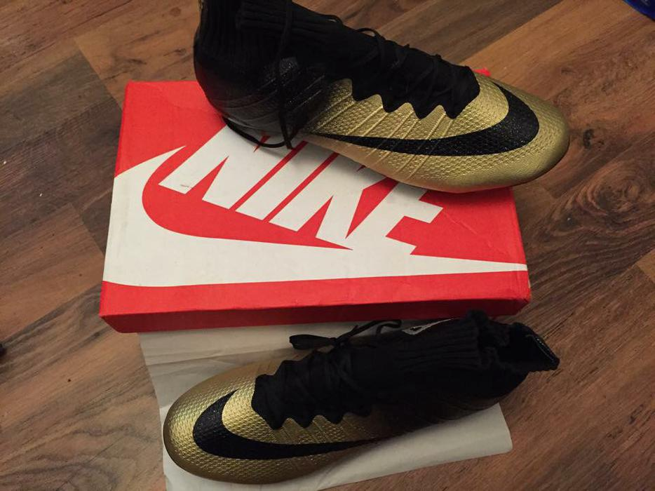 Nike Cr7 Gold Sock Football Boots Dudley Dudley