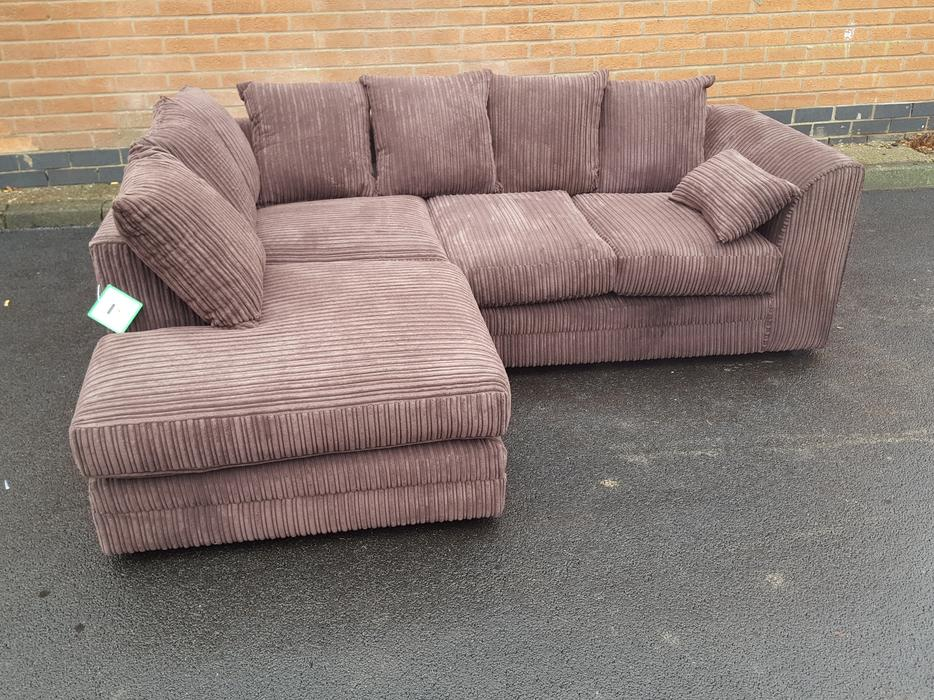 Sofa Cord Brand New Brown Cord Corner Sofa. Can Deliver Sandwell, Dudley