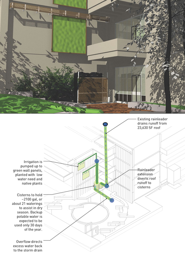 Vertical sustainability Moveable \u0027green walls\u0027 coming to Gould Hall