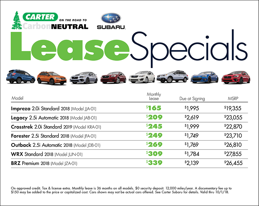 Subaru Sales  Lease Discount Deals  Offers in Seattle, WA - compare leasing prices