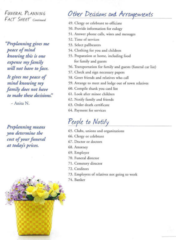 Phillips Funeral Home Paragould AR funeral home and cremation - funeral plans checklist