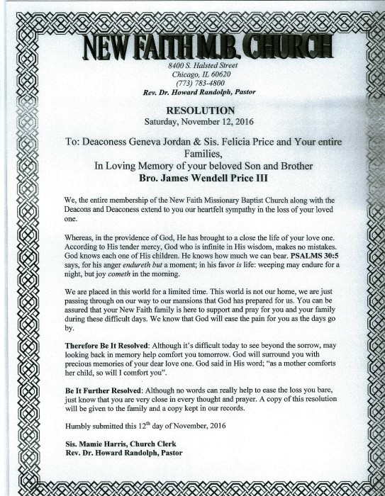 Luxury Funeral Resolution Template Festooning - Examples ...