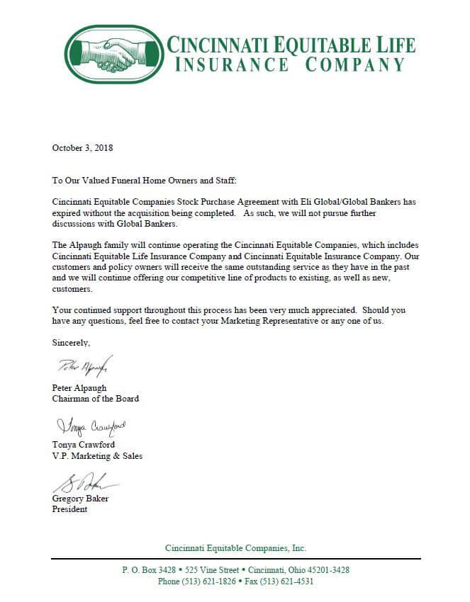 Cincinnati Equitable Life Insurance Company Georgia Funeral