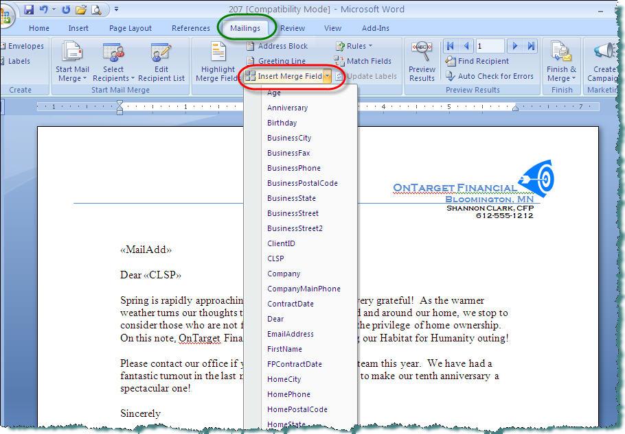 Creating Document Templates - create document template