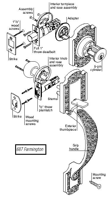 weiser lock diagrams