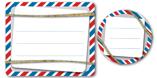 Printable Labels Airmail Style Shipping Labels \u2013 Print, Cut, Paste