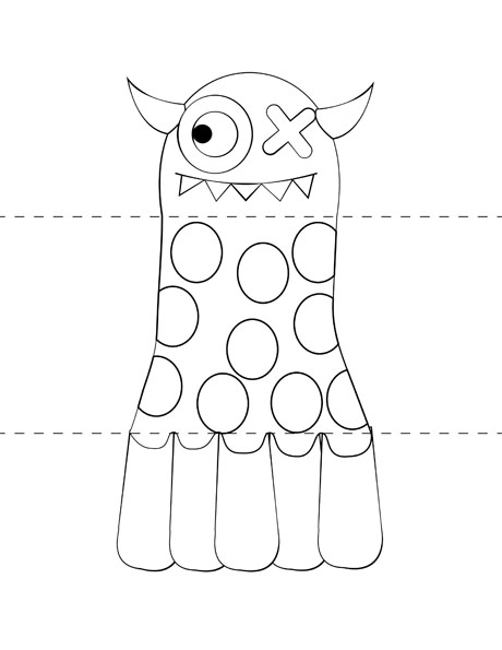 Free Kids\u0027 Craft Template Make Your Own Monsters \u2013 Print, Cut - Monster Template