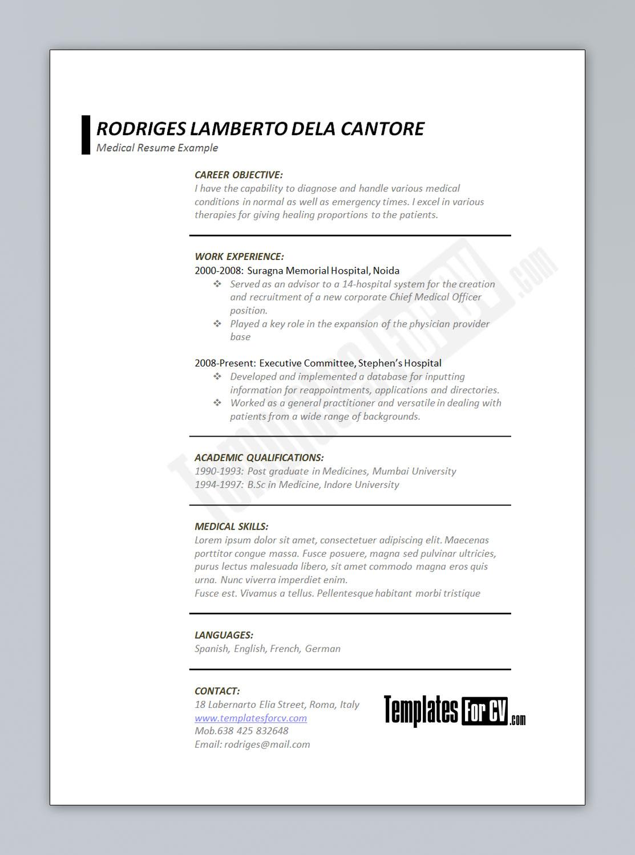 cv format word file sample service resume cv format word file cv format template for cv medical