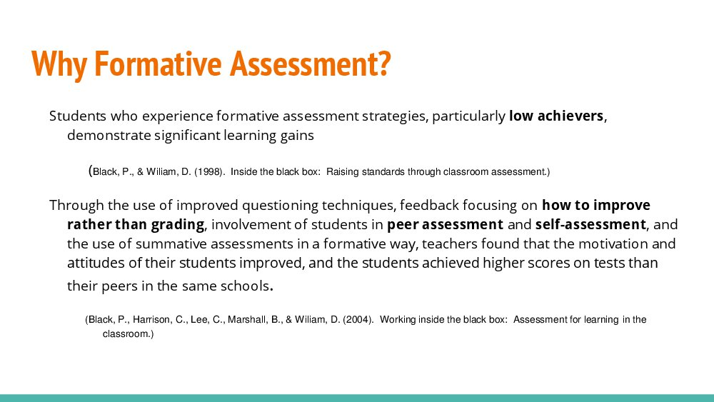 A Comparison of Eight Digital Tools for Formative Assessment - formative assessment strategies