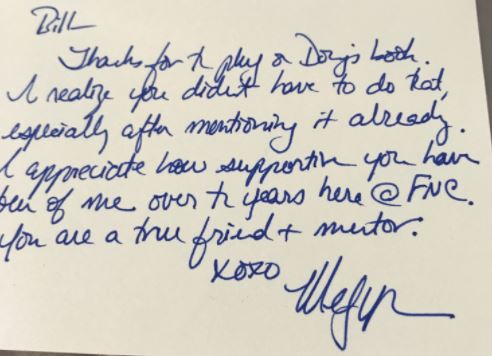 Bill O 0027Reilly Shares Handwritten Thank You Notes From Megyn Kelly - thank you note