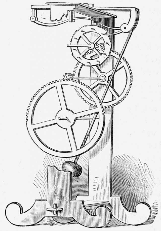 diagram of a clock