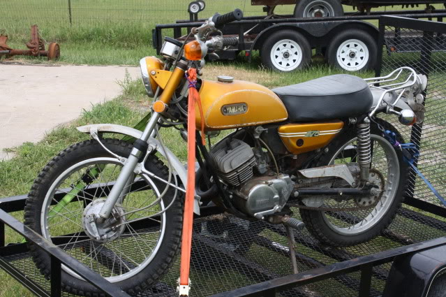 Old Yamaha dirt bike restoration Adventure Rider