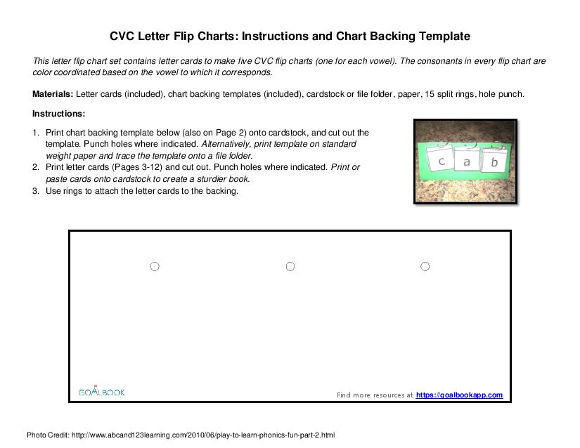 CVC Letter Flip Charts Goalbook Pathways