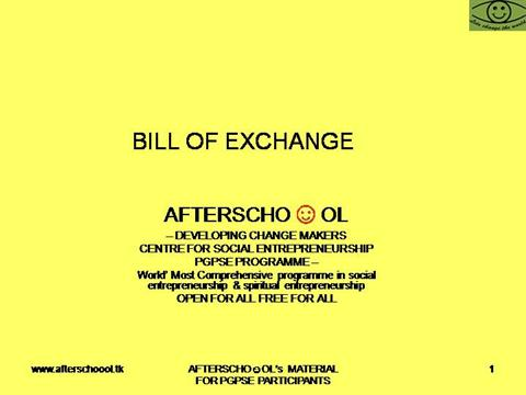 BILL of EXCHANGEauthorSTREAM