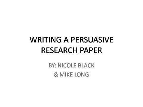 Research Paper PowerpointauthorSTREAM