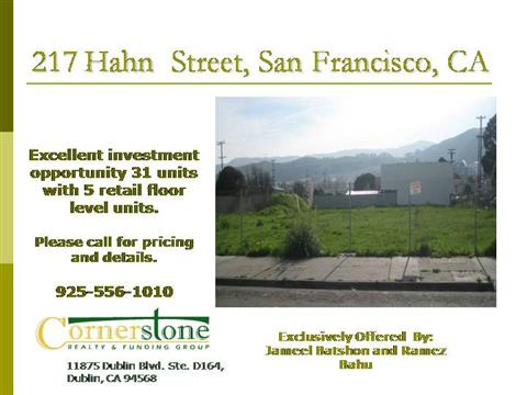 Land for Sale Flyer San FranciscoauthorSTREAM