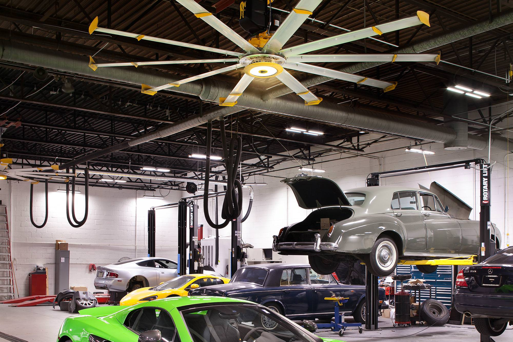 Garage Experts South Carolina Garage Cooling Fans From Big Ass Fans Keep You Cool And Your