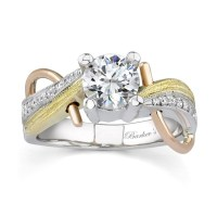 Barkev's Tri Color Engagement Ring -7138L