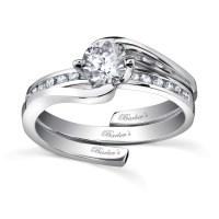 Barkev's White Gold Diamond Engagement Ring Set - 7493S