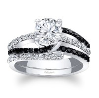 Barkev's Black Diamond Bridal Set 7677SBKW