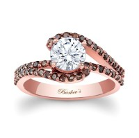 Barkev's Rose Gold Engagement Ring With Champagne Diamonds ...