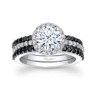 Barkev's Black Diamond Bridal Set 7895SBK