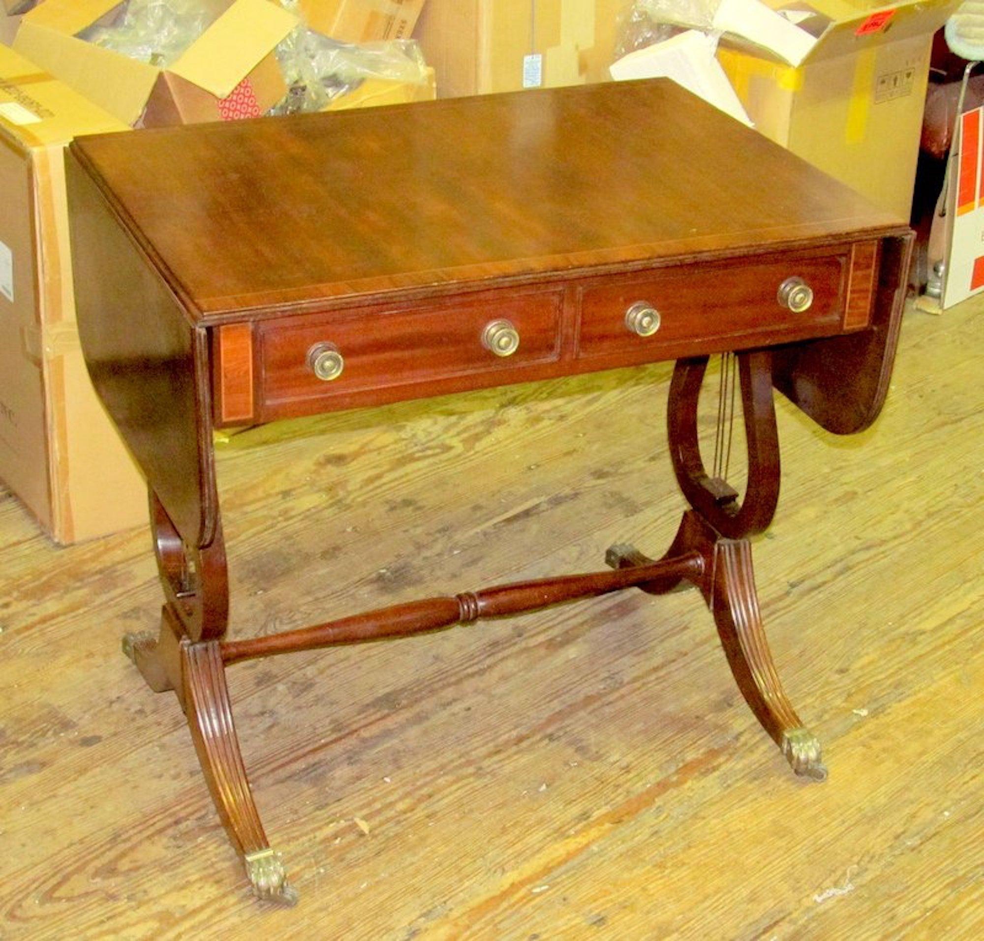 Drop Leaf Sofa Table Antique
