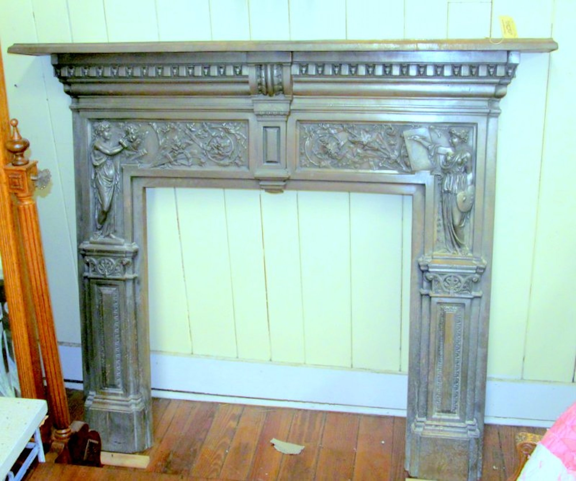 Copper Fireplace Mantel Antique English Young And Marten Burnished Steel Neoclassical Fireplace Mantel